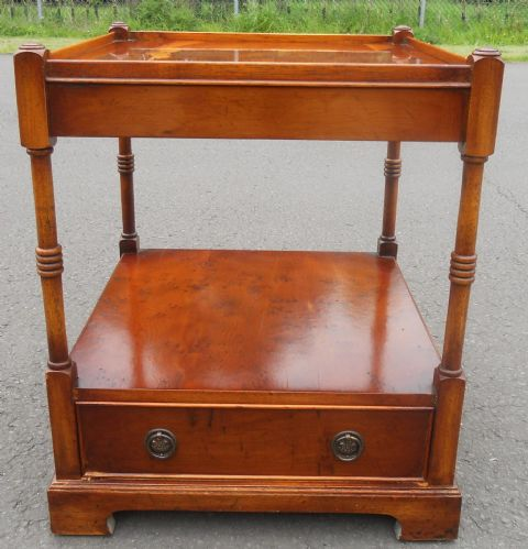 Yew Two Tier Lamp Table